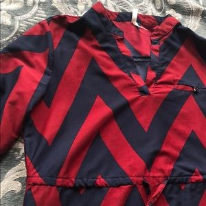Truth NYC size large dress and a deep red and navy